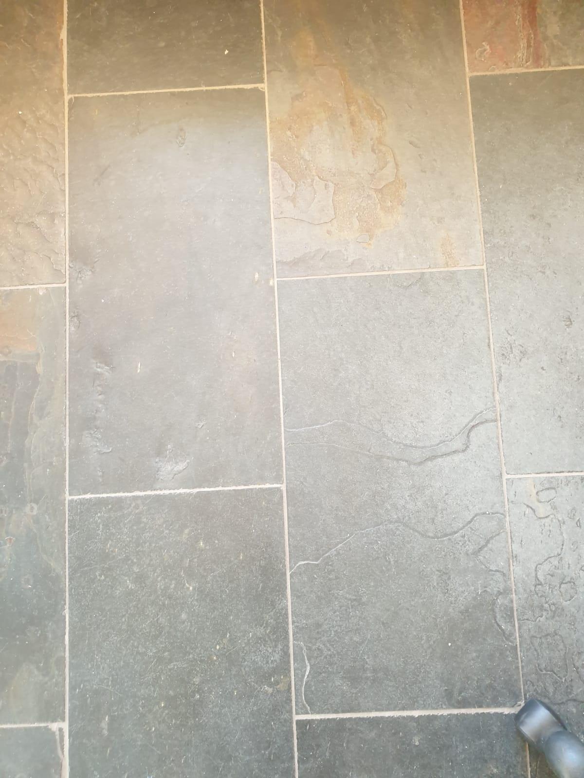 Slate deep cleaned finished with a matt sealer